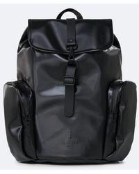Rains Mochila tipo mochila extragrande en negro brillante