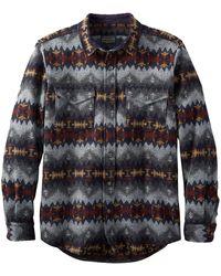 Pendleton La Pine Überhemd Navy Grey Sonora - Grau