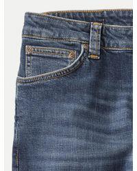 Nudie Jeans Algodón orgánico Mid Authentic Power Skinny Lin Hombre Denim Jeans - Azul