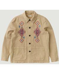Nudie Jeans Barney Desert Oat Jacket - Natural