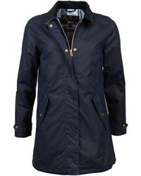 Barbour Royal Navy Lowmond Wax Jacket para Mujer - Azul