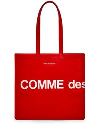 Comme des Garçons Bolso de mano con logotipo enorme Wallet (rojo) SA9001HL