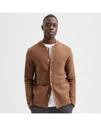 SELECTED Https://www.trouva.com/it/products/selected-homme-wool-workwear-cardigan-coffee-liqueur - Marrone