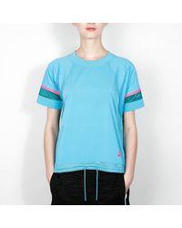 Nike T-shirt collé pour femme Omega Blue et Rio Teal - Bleu