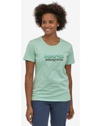 Patagonia T Shirt Prints Green Cotton Bio Pastel P 6