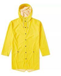 Rains Chaqueta larga amarilla de poliuretano y poliéster - Amarillo