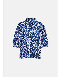 Essentiel Antwerp Accessoire d'impression léopard bleu et lilas