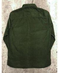 SELECTED Henley Langarm Cord Shirt Deep Forest - Grün