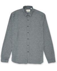 Oliver Spencer - Clerkenwell Tab Shirt Pippen Grey - Lyst
