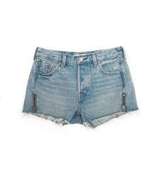 Levi's 501 Altered Zip Short - Blue