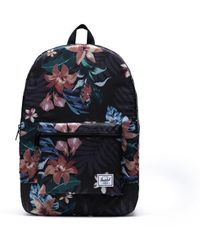 Herschel Supply Co. Mochila de verano floral negra empacable - Multicolor