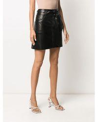 Nanushka Https://www.trouva.com/it/products/--meda-vegan-leather-mini-skirt - Nero