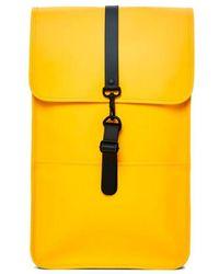 Rains Zaino in poliuretano giallo