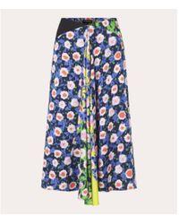 Stine Goya Https://www.trouva.com/it/products/stine-goya-lilah-skirt-flowermarket-mix - Blu
