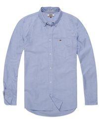 Tommy Hilfiger Tommy Jeans Klassisches Oxford Langarmhemd Hellblau