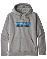 Patagonia MS P 6 Logo Uprisal Hoody Gravel Heather - Gris