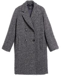 Weekend by Maxmara Manteau en tweed de laine Stiria - Gris