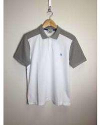Original Penguin Vista Polo Shirt Hellweiß - Mehrfarbig