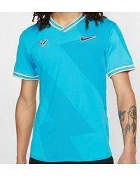 Nike T-shirt Rafa Court Aero React pour homme - Bleu