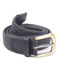 Barbour Stretch Webbing Belt - Gray