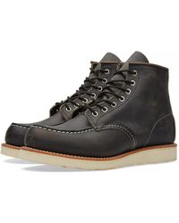 "Red Wing Red Wing 8890 Heritage Work 6 ""Moc Toe Boot Charcoal Rough & Tough Leather - Negro"