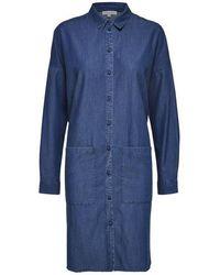 SELECTED Slfaugusta Denim Shirtdress - Blue