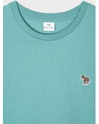 Paul Smith - Camiseta de algodón orgánico turquesa con logo de cebra - Lyst