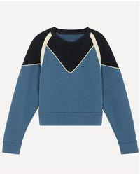 Ba&sh Https://www.trouva.com/it/products/baandsh-brick-blue-sweatshirt