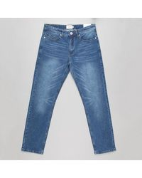 Farah Indigo Worn Elm Stretch Regular Fit Denim Jeans - Blue