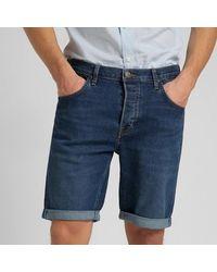 Lee Jeans Lee 5 Pocket Denim Shorts Dark Wash - Blau