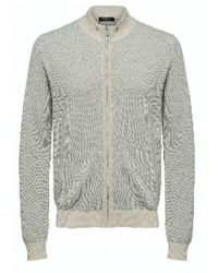 SELECTED Https://www.trouva.com/it/products/selected-homme-sand-melange-fernando-full-zip-cardigan - Grigio