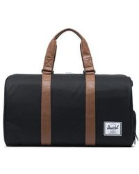 Herschel Supply Co. Herschel Novel Borsone in pelle sintetica marrone chiaro nero