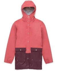 Herschel Supply Co. Https://www.trouva.com/it/products/herschel-supply-co-mineral-red-and-plum-womens-rainwear-jacket - Rosso