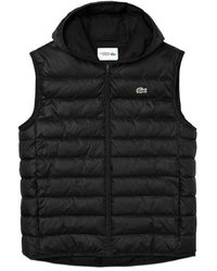Lacoste Bh 1552 Padded Gilet Black