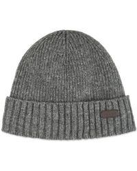 Barbour Carlton Mütze Grau