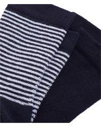 Petit Bateau 2 Pack Womens Striped Metallic Socks - Blue