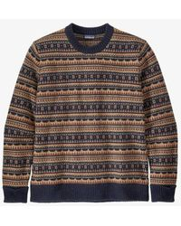Patagonia MS Recycled Wool Sweater Cottage Isle Small New Navy - Multicolor