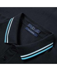 Fred Perry Made in Japan Polo Navy, Neon Aster e Neon Saxe - Blu