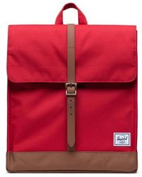 Herschel Supply Co. Rucksack City Red Saddle Brown - Rot