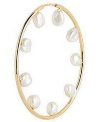 Maria Black Aro barroco de perlas 50 - Multicolor