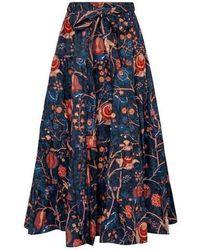 Ulla Johnson Sigrid Skirt Dark Moonlight - Blue
