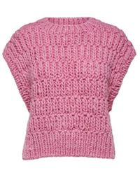 SELECTED Https://www.trouva.com/it/products/selected-femme-pearl-sweater-vest - Rosa