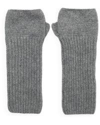 The West Village Loose Rib Gray Wrist Warmers