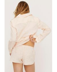 Love Stories Audrey H Pajama Shorts - Natural