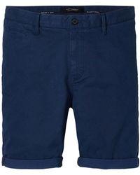 Scotch & Soda Pantalones Cortos Indigo Warren - Azul