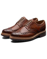 Grenson Https://www.trouva.com/it/products/-archie-hand-painted-gibson-brogue-tan - Marrone