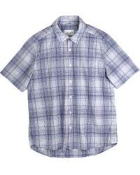 Albam Camisa Rooke de manga corta en cuadros azules