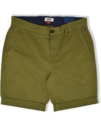 Tommy Hilfiger Tommy Jeans Essential Chino Shorts Uniforme Verde Oliva