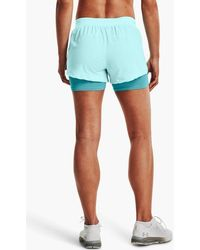 Under Armour Iso Chill Run 2 In 1 Shorts Breeze Cosmos - Blue