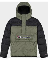 Champion Doudoune à capuche demi-zip Color Block - Vert